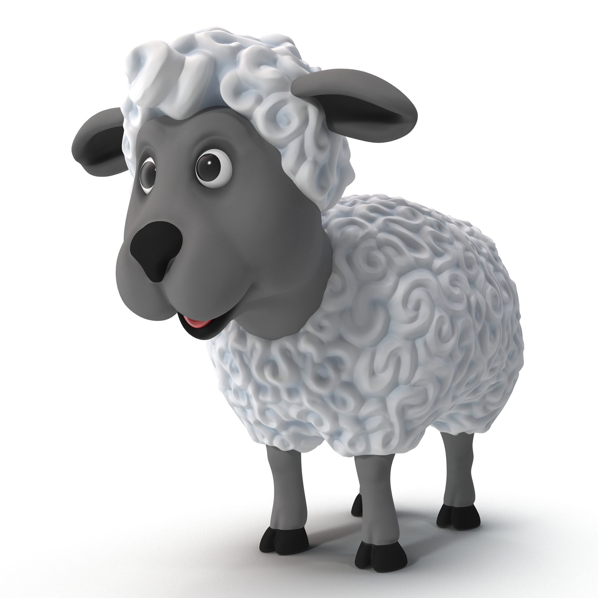 cartoon sheep rigged 3d max