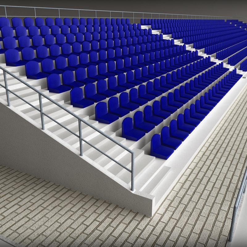 Stadium Concrete Seating Tribune 01.jpg