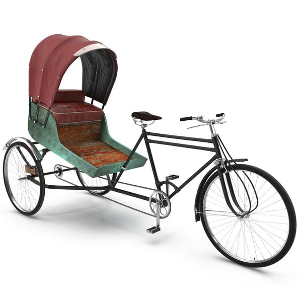 Bike Rickshaw 2 3D Models