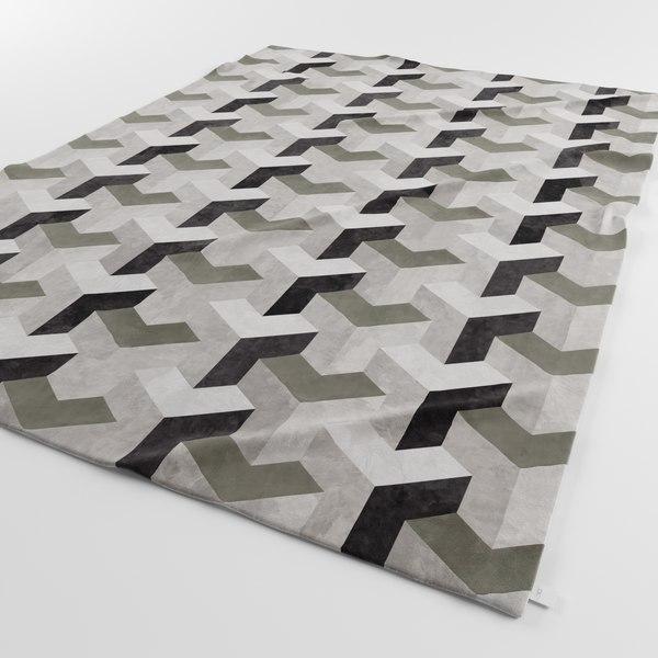 Designer Carpets Ypsilon Grey 3D Models