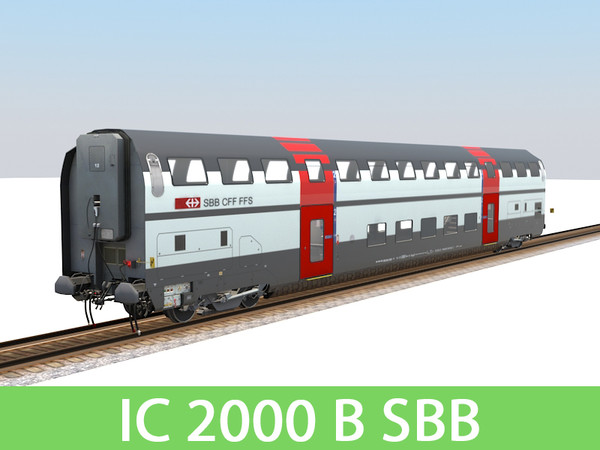 IC 2000 B SBB 3D Models