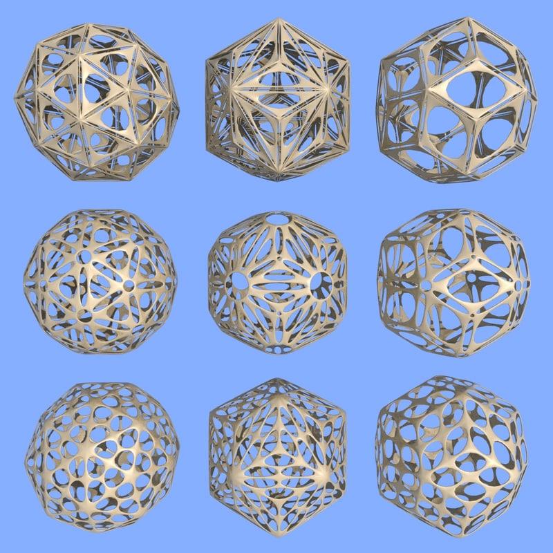 geometric shapes 3d model images
