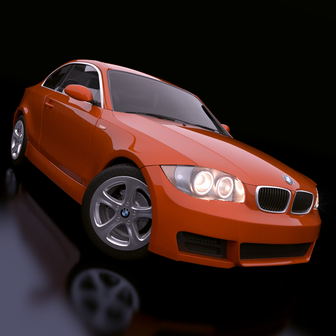 Bmw Z2: Maya Bmw 1 Series Rigged Car