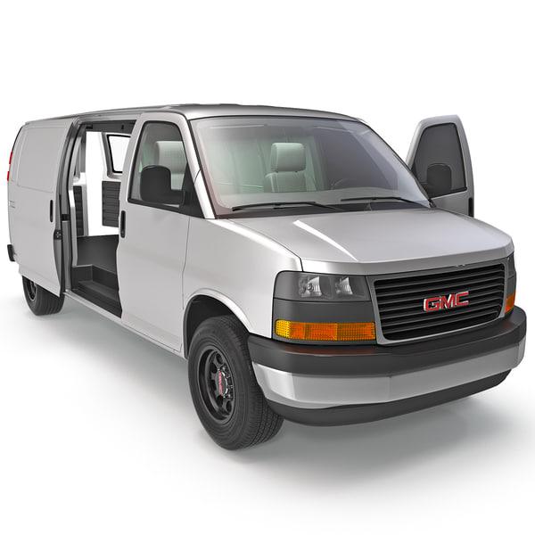 GMC Savana Cargo Van 2014 Rigged 3D Models