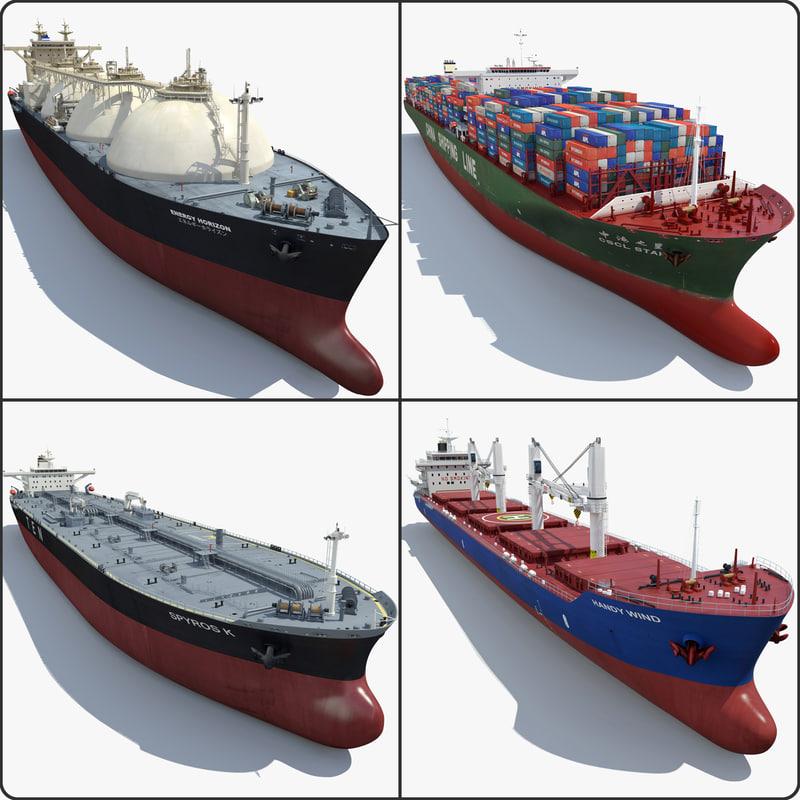 4 Cargo Ships