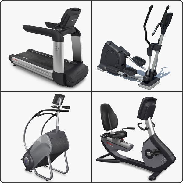 Cardio Equipment Collection 3D Models