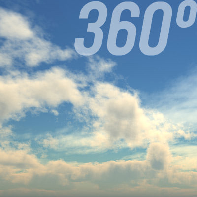 360° Sky Texture: Cloudy Noon Texture Maps