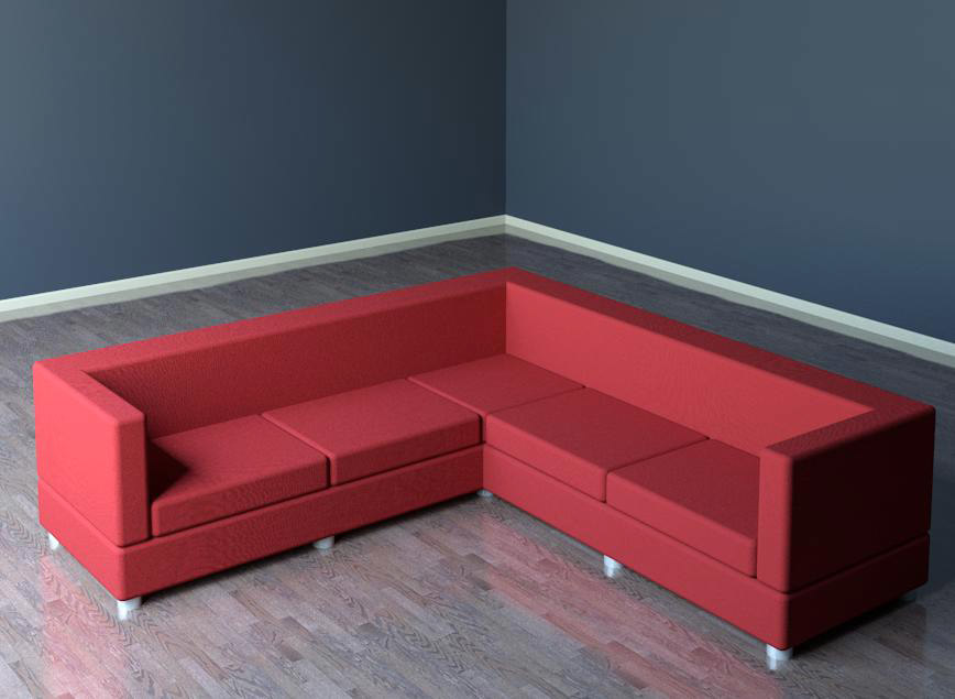 Building rfa sectional sofa couch for Sectional sofa revit