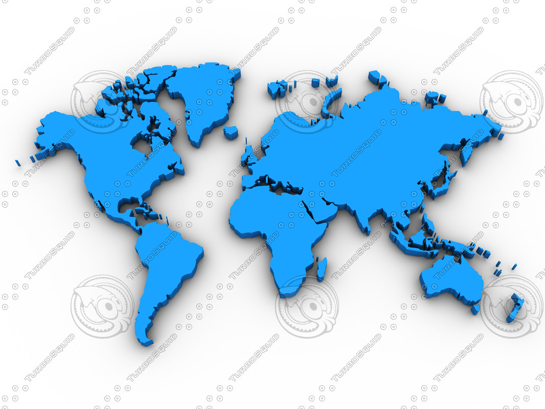 Stock jpg map world continent
