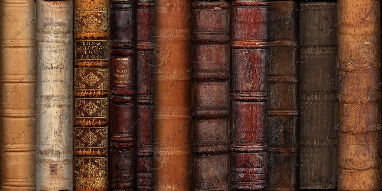 Old books on shelf wallpaper