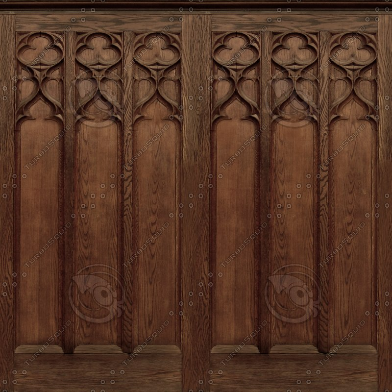 Wood Interior Wall Textures : Texture png Tileable Tracery Panels
