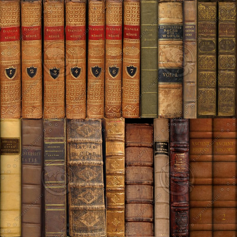 Texture png book leather spines