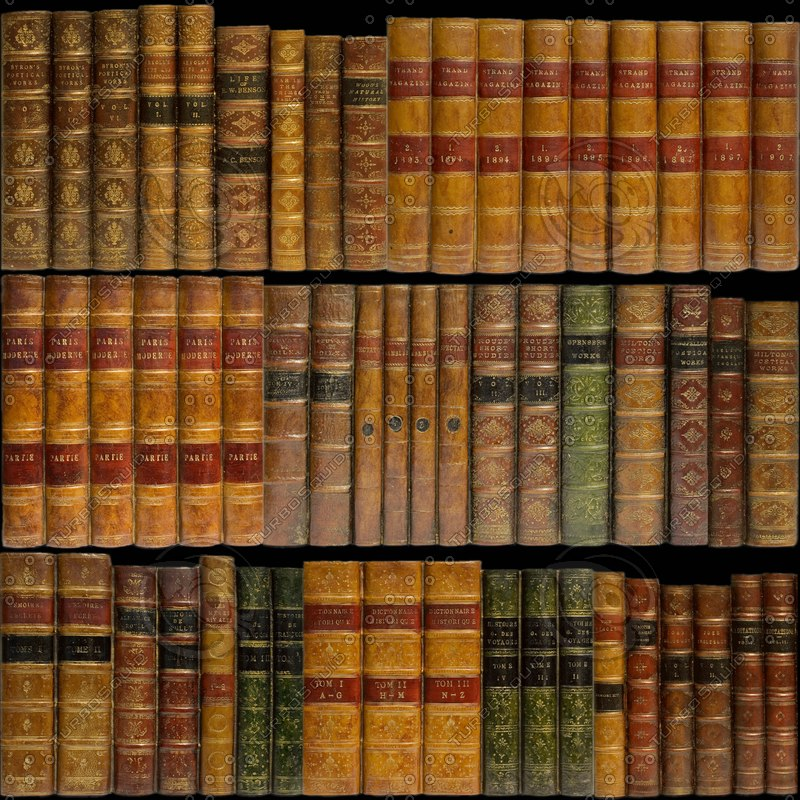 Texture jpg book spines leather