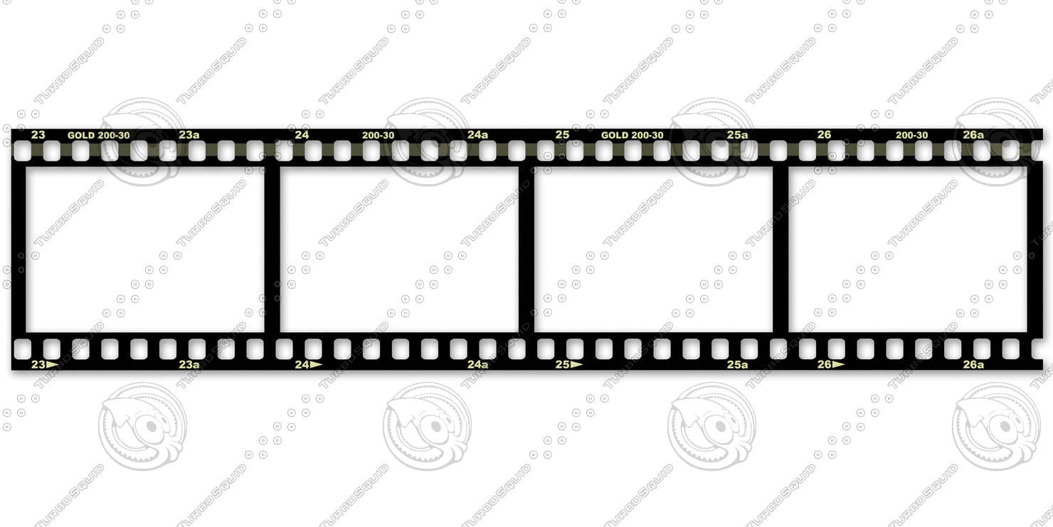 film on a white background.psd