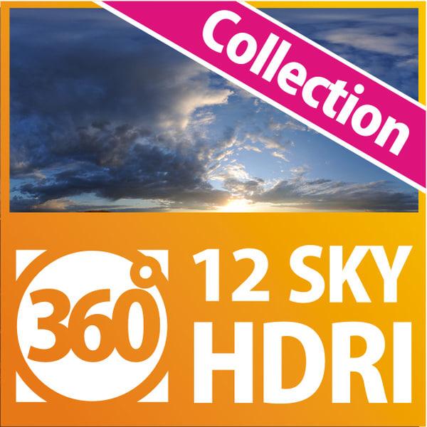 HDRI Sky Collection (12hdri) Texture Maps
