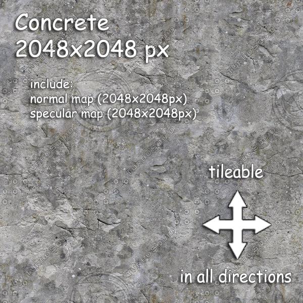 concrete (09) Texture Maps