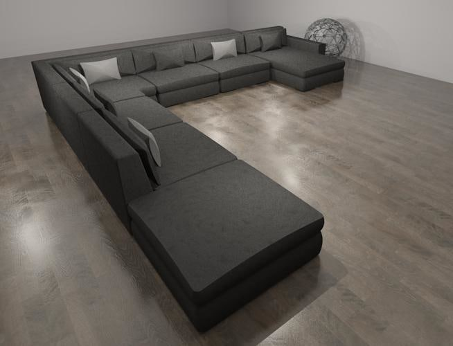 Building rfa sofa sectional couch for Sectional sofa revit