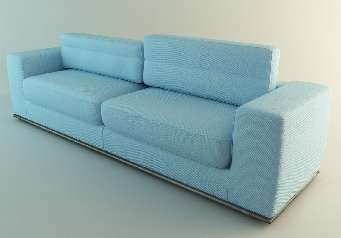 Light Blue Couch : Light Blue Fabric Couch