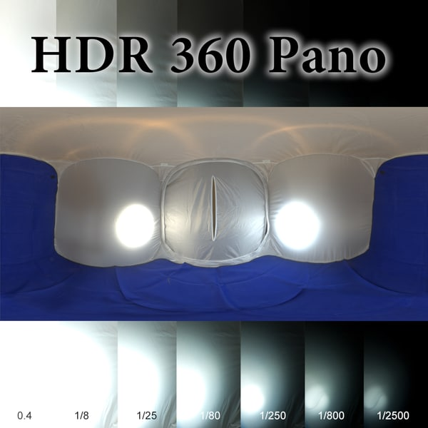 HDR 360 pano Light Tent Texture Maps