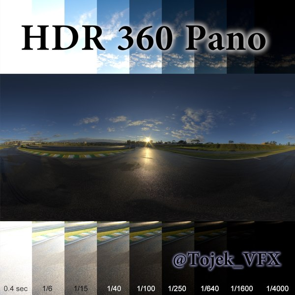 HDR 360 Pano racetrack sunrise03 Texture Maps
