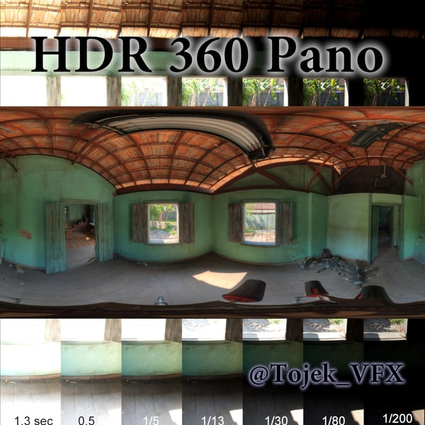 HDR 360 pano 3D Country Shack Interior Texture Maps