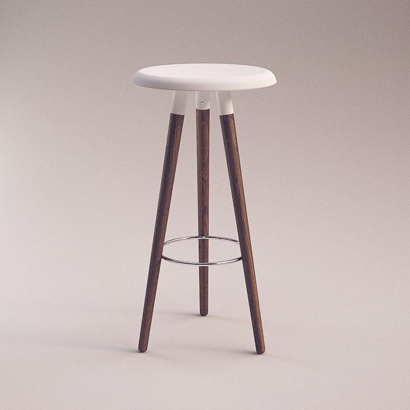 3d vig stool boconcept. Black Bedroom Furniture Sets. Home Design Ideas