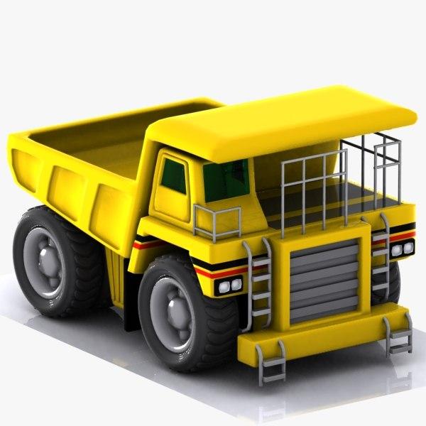 Cartoon Haul Truck 3D Models