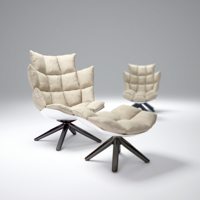 3d model b b husk chair. Black Bedroom Furniture Sets. Home Design Ideas
