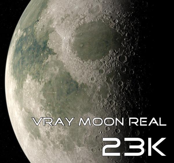 Vray Moon Real 23K 3D Models