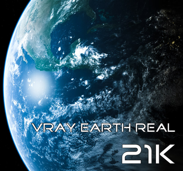 Vray Earth Real 21K 3D Models