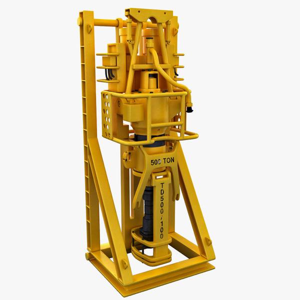 Top Drive Drilling Machine 3D Models
