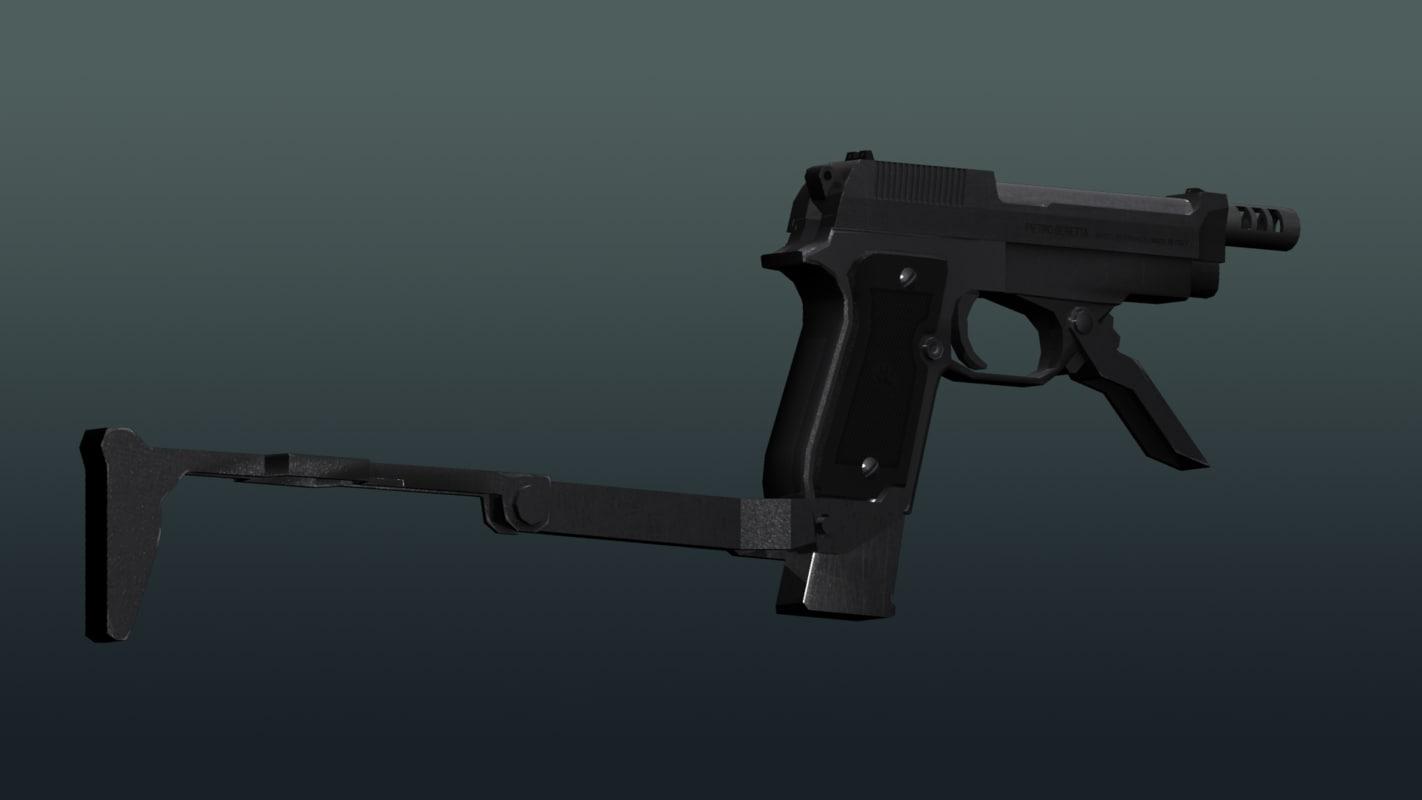 beretta m93r 3d 3ds