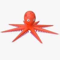 cartoon octopus 3D models