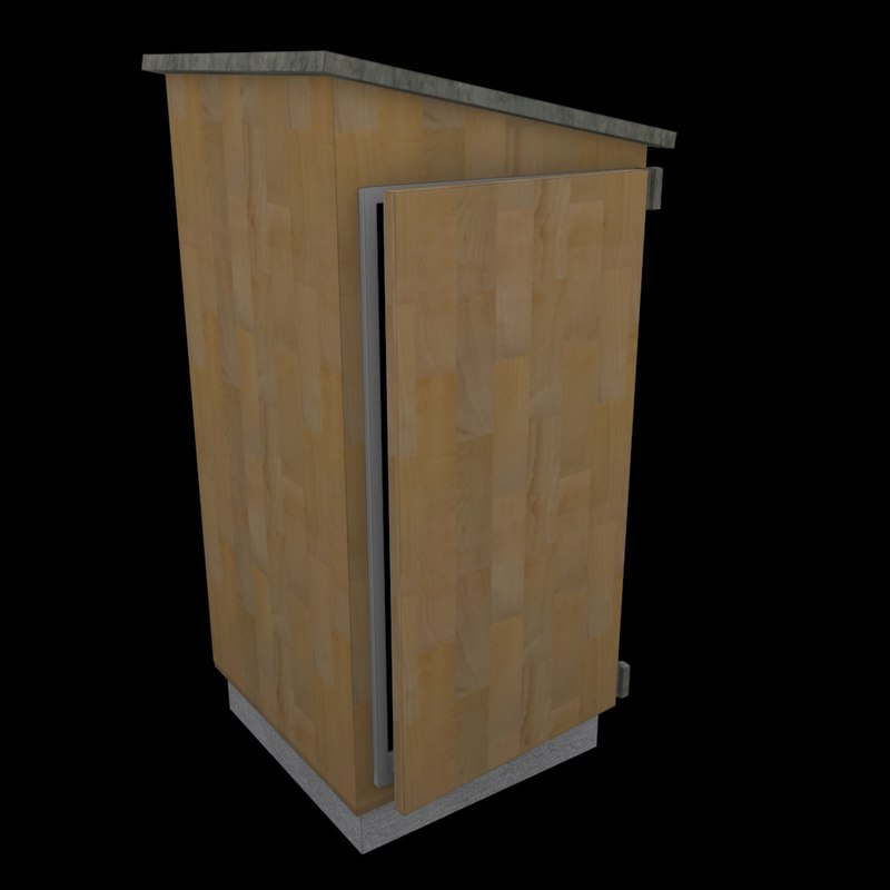 3d model outhouse toilet wc - Wc model ...