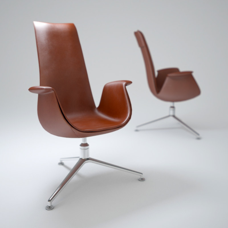 3ds max fk lounge chair hb