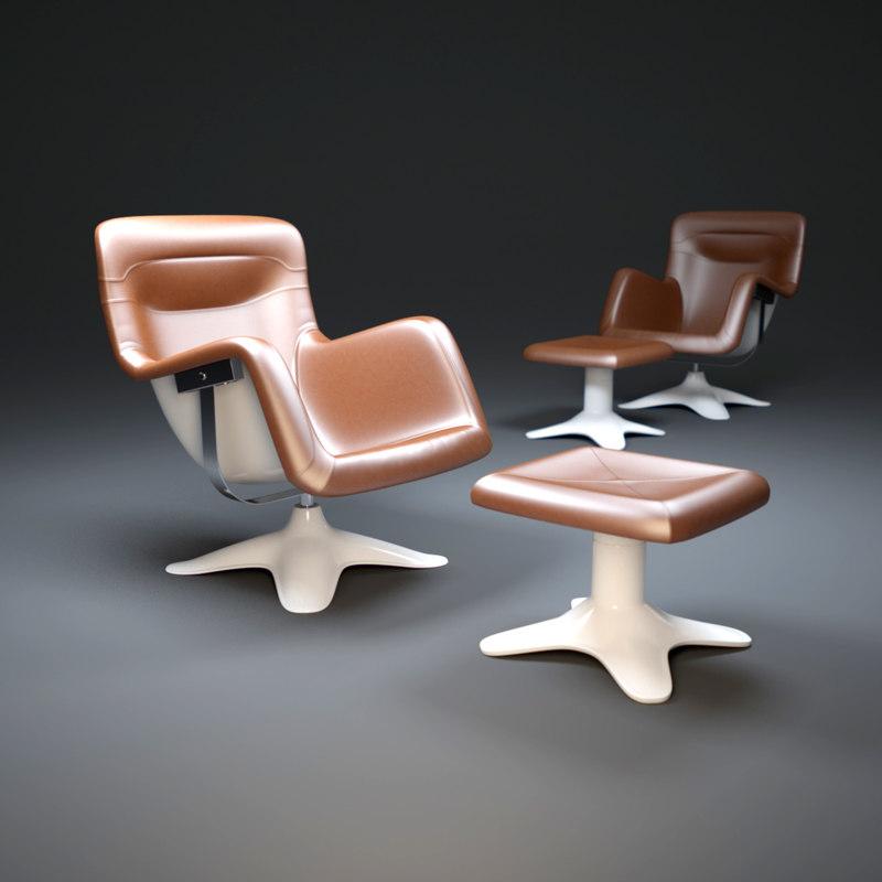 3d karuselli armchair