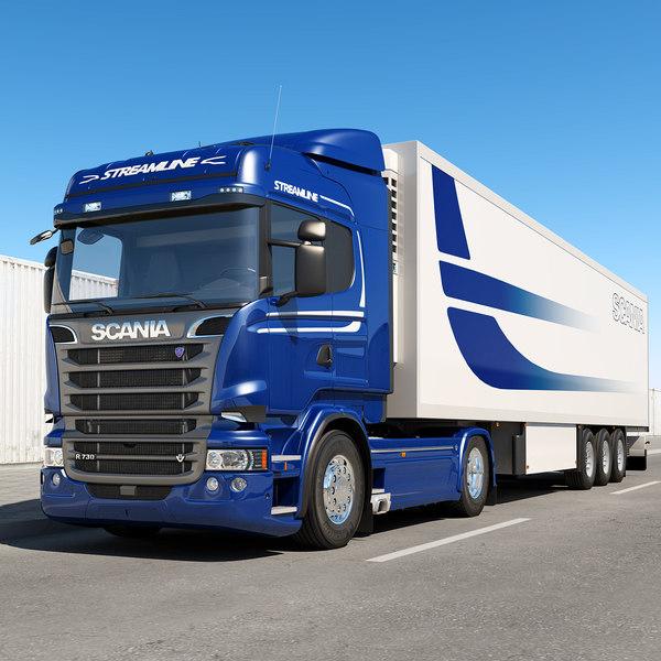 Scania R 730 Higline 3D Models