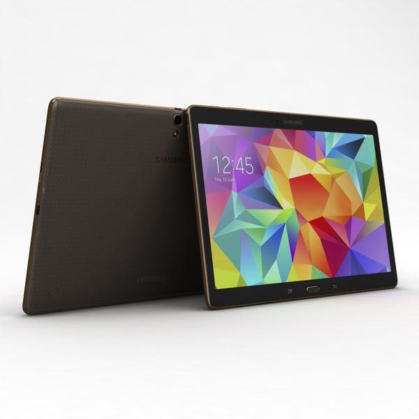 Samsung Galaxy Tab S 10.5 & LTE Titanium Bronze 3D Models