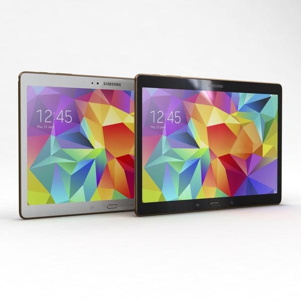 Samsung Galaxy Tab S 10.5 & LTE All Color 3D Models