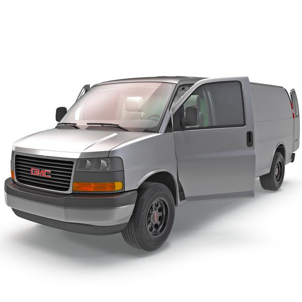 GMC Savana Cargo Van 2014 3D Models