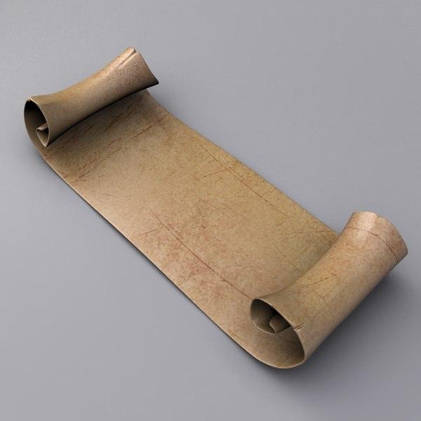 Scroll 3D Models