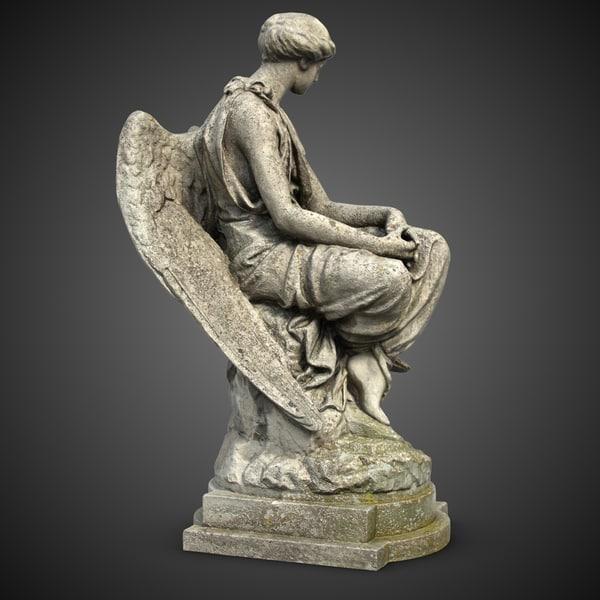 Angel Sculpture 4 3D Models
