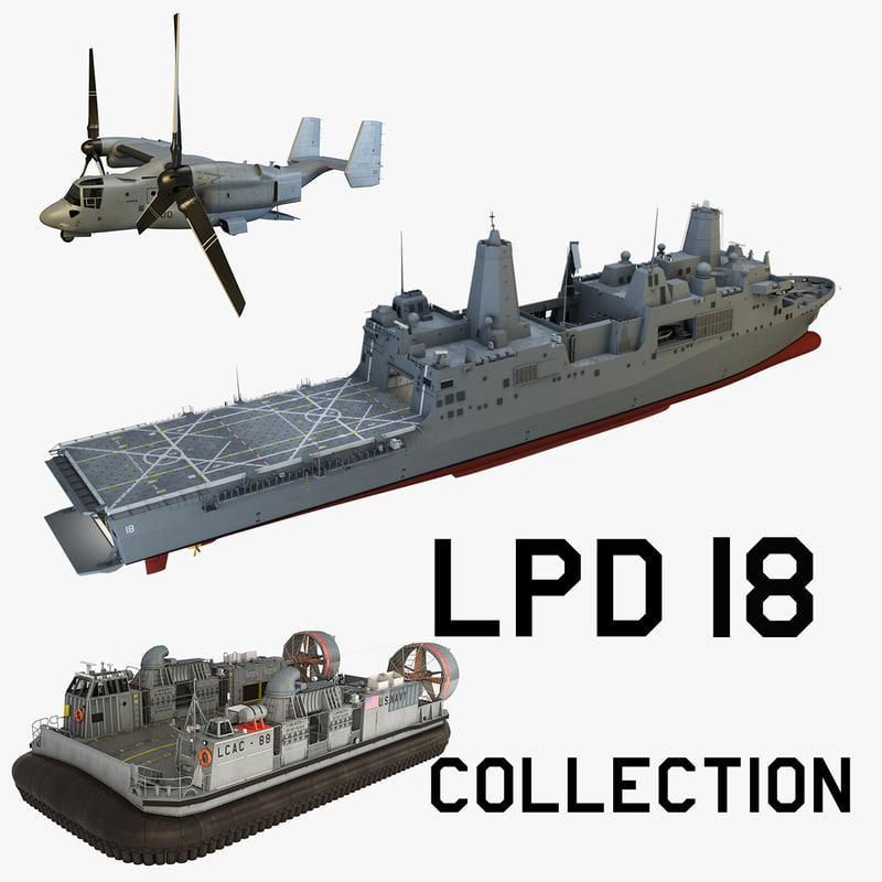 3d uss new lpd 18 model