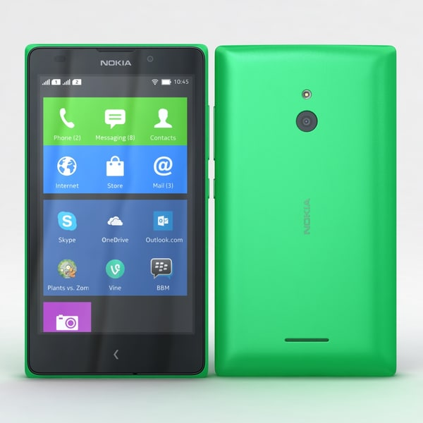 Nokia XL and XL Dual Bright Green Texture Maps