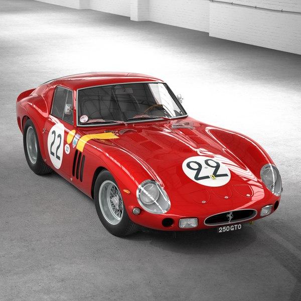 Ferrari 250 GTO 3757GT (no engine) 3D Models