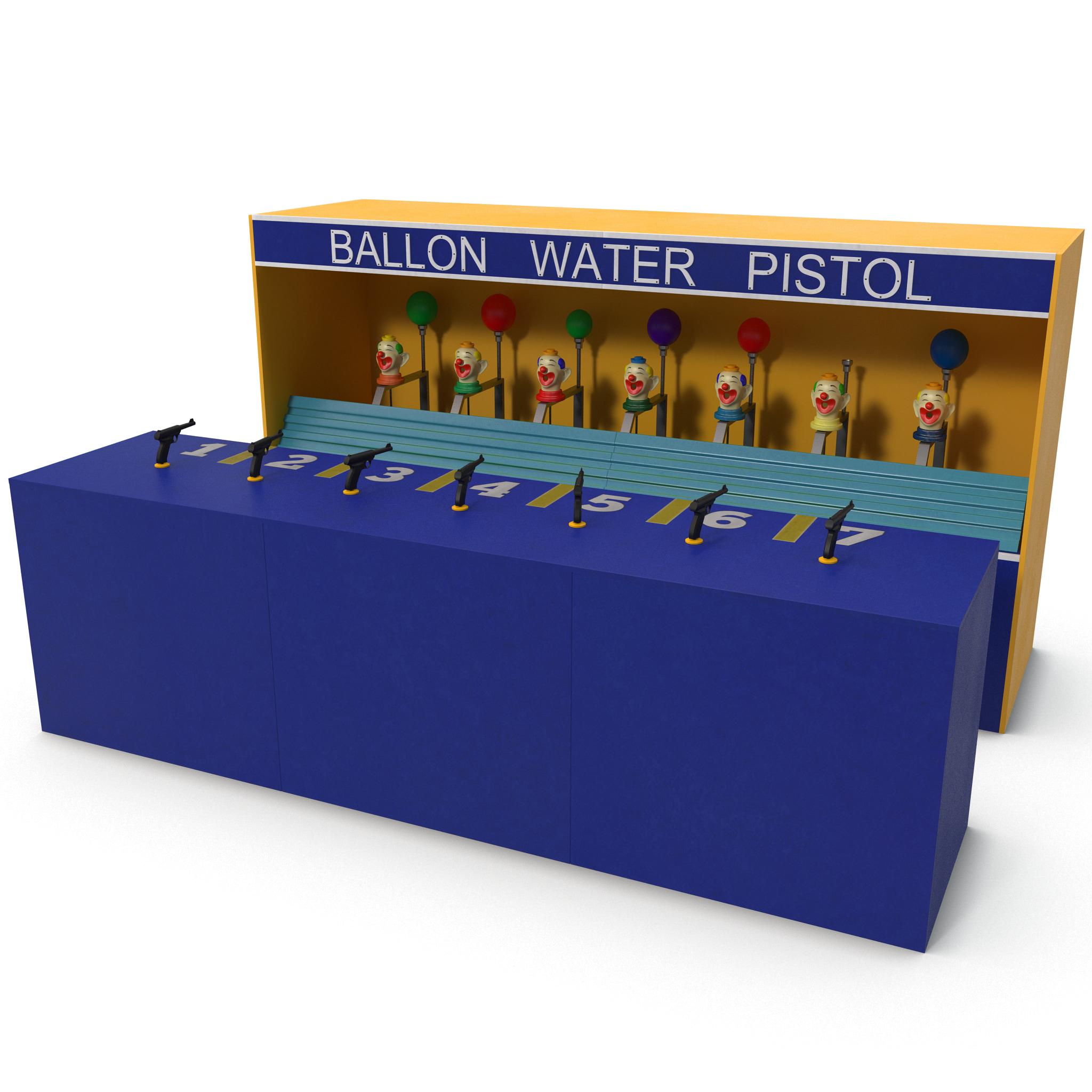 Clown Water Gun Balloon Game