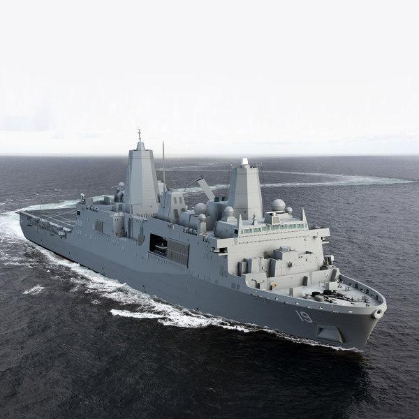 USS Mesa Verde LPD19 3D Models