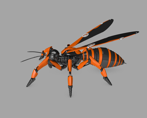 Robot Wasp 3D Models