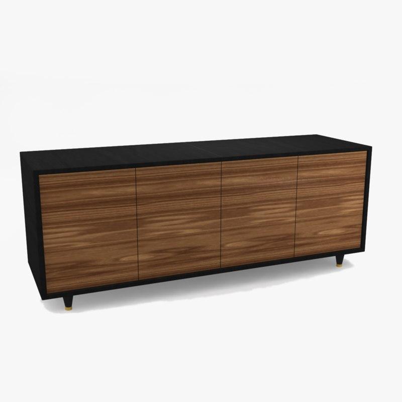 3d model sideboard modern for Sideboard 3d