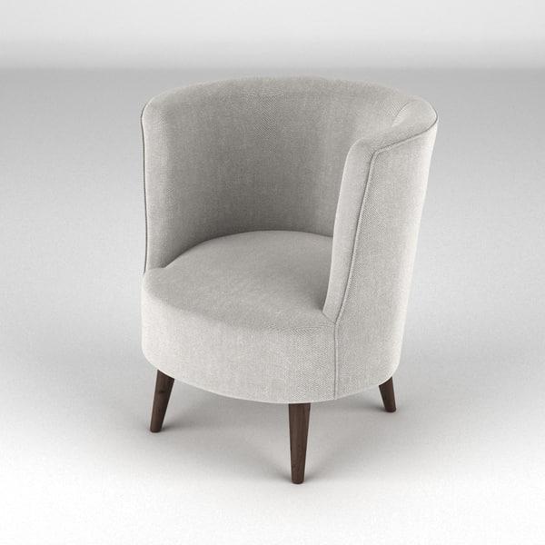 Lulu Scoop Chair 3D Models